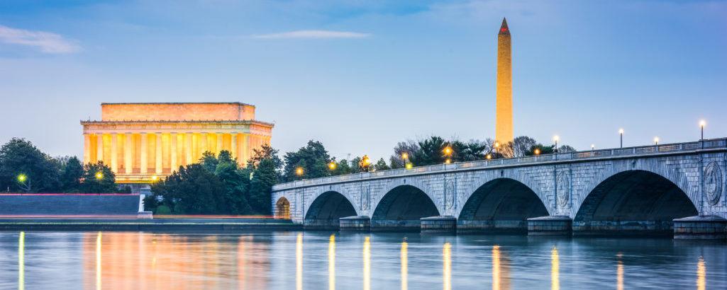 Lincoln and Washington monuments
